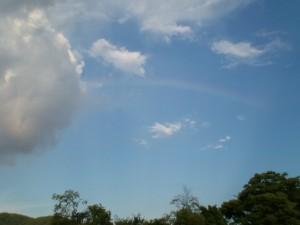 虹が出ましたよ