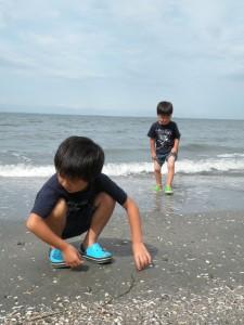 初めての海。