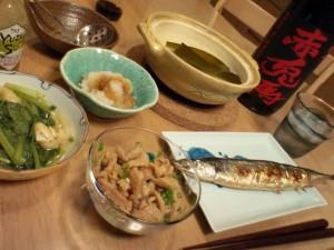 湯豆腐やらサンマやら・・・・・